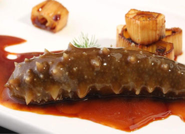 Sea Cucumber with Scallion in Brown Sauce